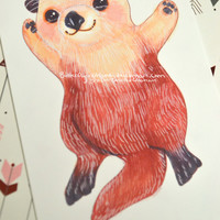 """Otterly Adorable Glossy 6"""" x 4"""" glossy print!  Buy three prints get a set of 3 stickers your choice!"""