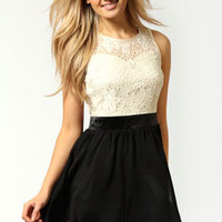 Ava Lace Top Netted Skirt Dress