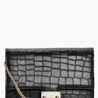 Emma Mock Croc Box Cross Body Bag | Boohoo