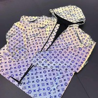 LV 2019 new laser reflective men's and women's jacket