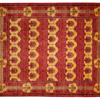 """8'1""""x10'6"""" Art & Craft Knotted Rug, Red, Area Rugs"""