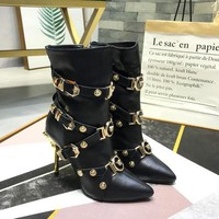 Versace Tribute Ankle Boots Item #a1 - Best Deal Online