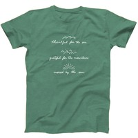 Thankful For The Sea Grateful For The Mountains Moved By The Sun - Eco Tee