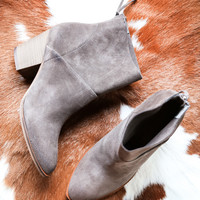 Kind Heart Suede Boot, Grey | Chinese Laundry