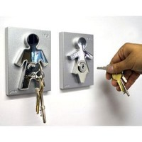 Couple Human Key Holders (set of 2): Home & Kitchen