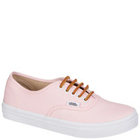 Vans Authentic Slim Brushed Twill Trainer - Soft Pink 			Clothing - FREE UK Delivery