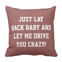 Just Lay Back Baby Throw Pillow