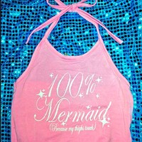 SWEET LORD O'MIGHTY! IM A MERMAID HALTER IN PINK