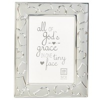 "Heart Pattern Silver Photo Frame- 5"" x 7"" 610825385"
