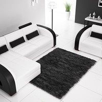 Small Contemporary Leather Sectional With Matching Chair - Opulentitems.com