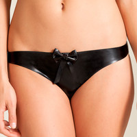 Lascivious: William Wilde Latex Kitty Open Back Brief at Nancy Meyer