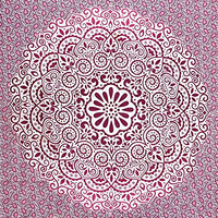 Fairdecor Pink Ombre With Leaf Double Shaded Mandala Tapestries Latest Exclusive Ombre Mandala Tapestry Bohemian Wall Hanging Wall Tapestries Mandala Beach Throw