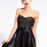 Touch-of-Glam Combo Dress