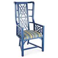 Taylor Burke Home, Kings Grant Chair, Cobalt/Multi, Accent & Occasional Chairs