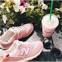 New Balance Z-shaped shoes sports casual running shoes tide retro shoes Pink