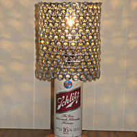 Vintage Schlitz Beer Can Lamp With Pull Tab Lampshade - The Mancave Essential