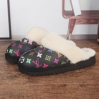 UGG x LV Monogram Slippers Shoes Boots