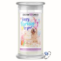 Happy Barkday To You Jewelry Greeting Candles