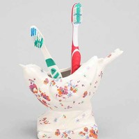 Plum & Bow Bird Patch Toothbrush Holder- Ivory One
