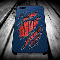 Peter Parker Ripped Torn cloth for iPhone 4/4s/5/5s/5c/6/6 Plus Case, Samsung Galaxy S3/S4/S5/Note 3/4 Case, iPod 4/5 Case, HtC One M7 M8 and Nexus Case ***