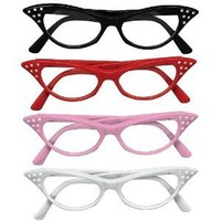 Rhinestone Cat Eye 50s Party Glasses in Many Colors | AihaZone Store