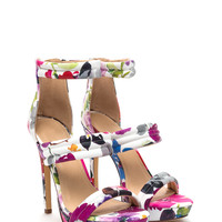 Three Straps You're Out Floral Heels GoJane.com