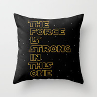 STAR WARS - Use the Force! Throw Pillow by John Medbury (LAZY J Studios)