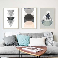 Simple Geometric Quote Canvas Painting Nordic Poster Wall Art Prints Scandinavian Decoration Pictures Living Room decorative