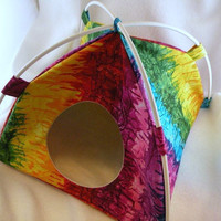 Rainbow Tie Dye Large Tent Sleep Sack Bed for Hedgehogs Rats Guinea Pigs Ferrets