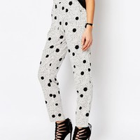 J.D.Y Double Spot Print Relaxed Trousers