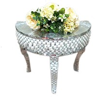 Mosaic Mirrored Centerpieces Table