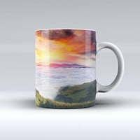 The Foggy Mountainside ink-Fuzed Ceramic Coffee Mug