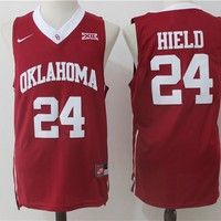 Best Sale Online NCAA University Basketball Jersey Oklahoma Sooners # 24 Buddy Hield Red