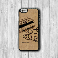 Vintage Memory Cassette Tape iPhone 6 Cases, iPhone 6 Plus Cover, Parchment Phone 5/5S, iPhone 4/4S Hard Case, Rubber Deco Accessories Gift
