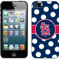 Coveroo St. Louis Cardinals Polka Dots Design Phone Case for iPhone 5s/5 - Retail Packaging - Black
