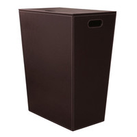 WS Bath Collections Ecopelle 2463DB Ecopelle 2463 Dark Brown Hamper w/ Internal Bag and Lid