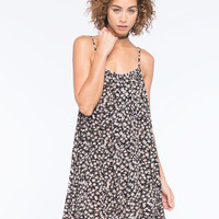 Volcom Escape With Me Dress Black/Pink  In Sizes