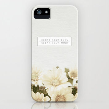 Close Your Eyes | Clear Your Heart iPhone Case by Galaxy Eyes | Society6