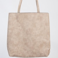 Tote Leatherette Bag - Beige