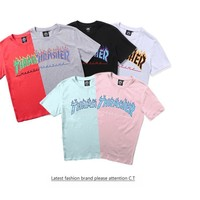 Men's Fashion Stylish Round-neck Couple Casual Short Sleeve T-shirts [10351479559]