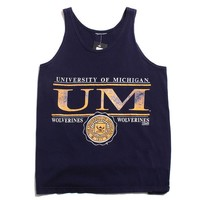 University of Michigan Big UM & Small Seal Team Edition Tank Top Navy (Medium)
