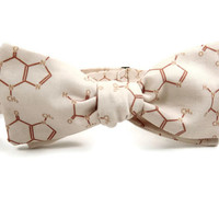 Chocolate bowtie, physics bowtie, valentine for him, chocolate for him, chocolate lover gift, mens bowtie, molecule bowtie, scientist bowtie