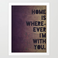 With You Art Print by Leah Flores Designs