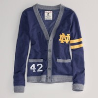 Notre Dame Vintage Varsity Cardigan   American Eagle Outfitters