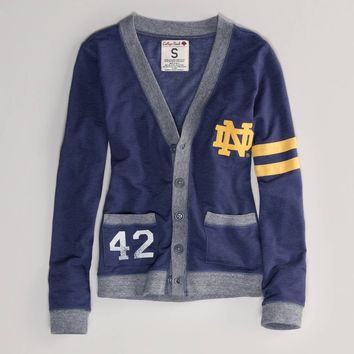 Notre Dame Vintage Varsity Cardigan | American Eagle Outfitters