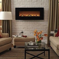 """50"""" Electric Wall Mounted Fire Place Space Heater 1500 Watts Bed Living Room New"""