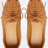 ASOS JOB ON Lace Up Leather Shoes
