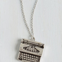 Scholastic Raise the Typebar Necklace by ModCloth