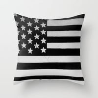 Grunge   American flag Throw Pillow by Taylor Whitehurst
