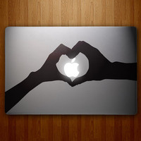 Heart Hands - Two Hands Forming a Heart - Taylor Swift Inspired - Vinyl MacBook Decal